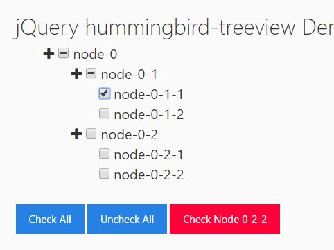Collapsible Tree View With Checkboxes - jQuery hummingbird-treeview