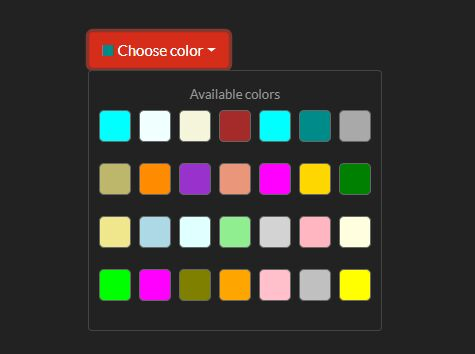 Simple Color Picker For Bootstrap 4 - colorPalettePicker.js