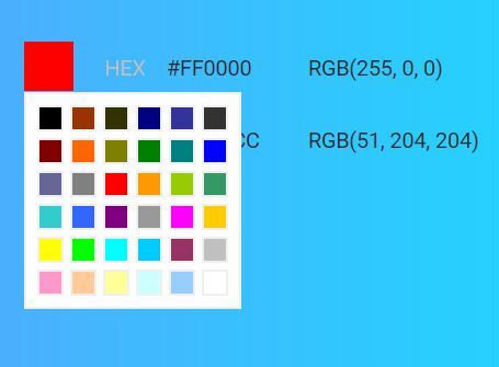 Basic Simple Color Picker Plugin For jQuery - bcPicker