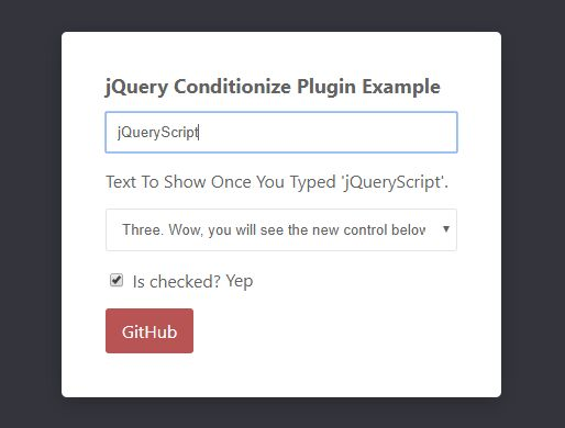 Conditionally Toggle Form Controls Based On Values - Conditionize