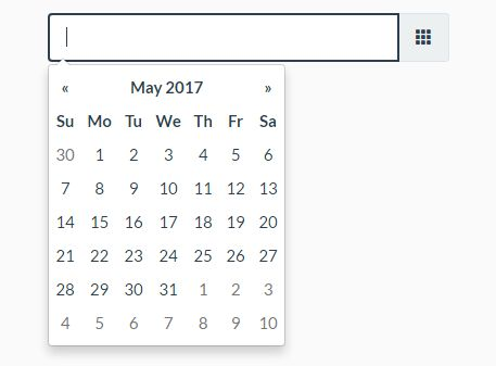 Fully Configurable jQuery Date Picker Plugin For Bootstrap