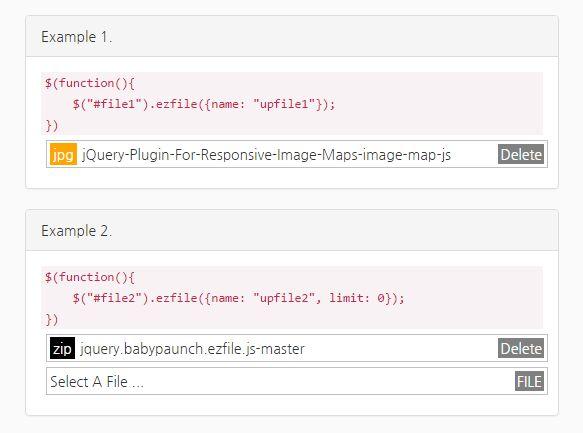 Configurable File Input / Upload Enhancement Plugin - ezfile.js