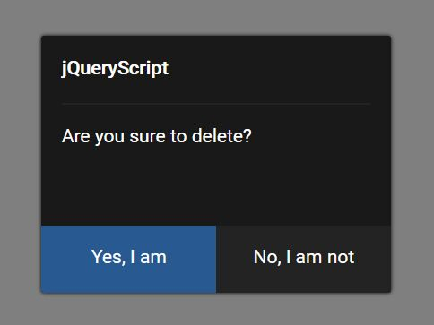 Minimal Confirmation Dialog With jQuery - CW.js