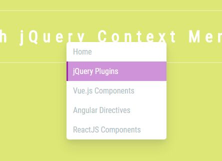 Stylish Context Menu With jQuery And CSS