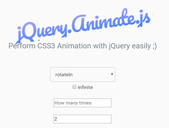 Animate Html Elements with jQuery and animate css - Animate