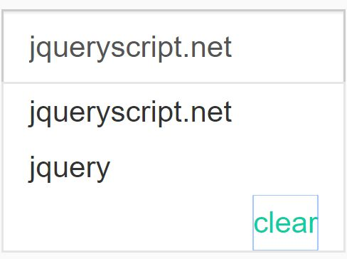 Cookie Based Input History Plugin For jQuery - searchHistory.js