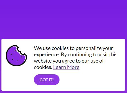 Beautiful Cookie Consent & Compliance Popup Plugin - jQuery cookieBubble