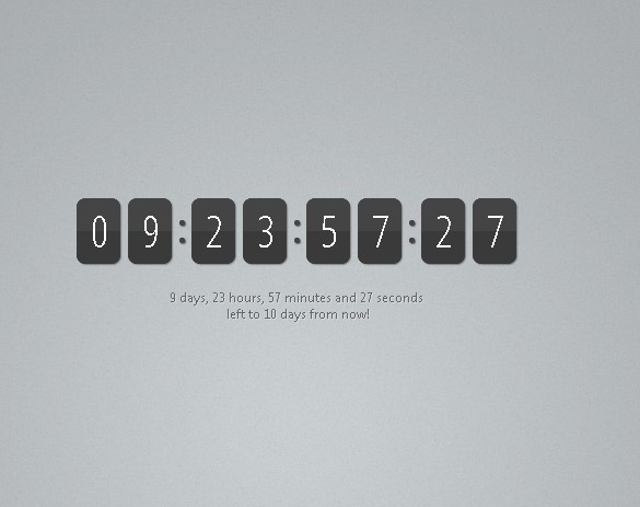 Cool Countdown Timer With jQuery