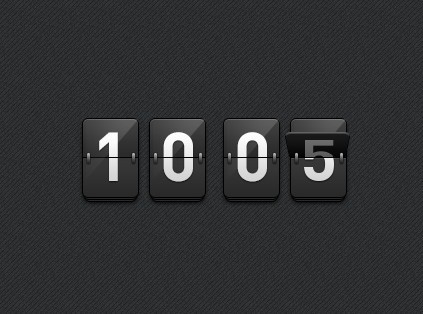 Cool Mechanical Scoreboard Style Countdown Plugin For jQuery - Countdown