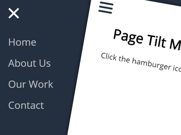 Cool Revealing Navigation with Page Tilt Effect Using jQuery and CSS3
