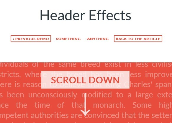Cool Sticky Header Effects with jQuery and CSS3