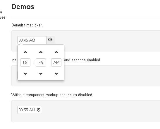 Cool Time Picker For Twitter Bootstrap | Free jQuery Plugins