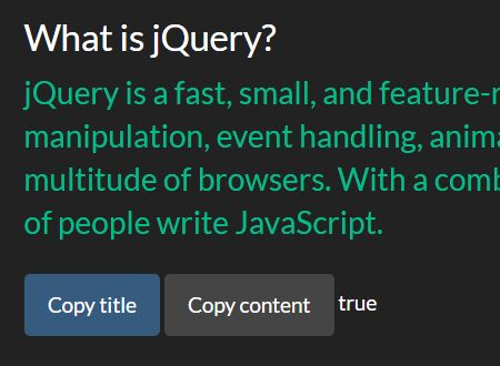 Copy Text Selection To Clipboard - jQuery Copy.js