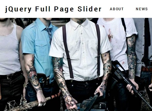 Create A Responsive One Page Website with jQuery and CSS3 - Full Page Slider