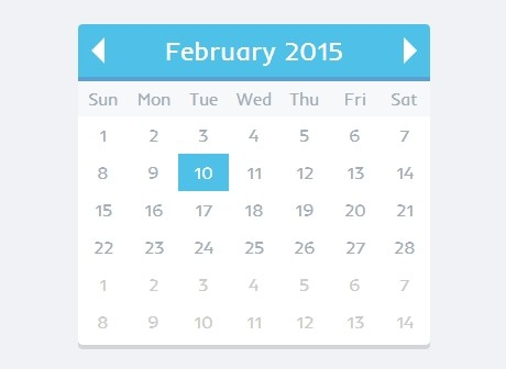 Create A Simple Flat Date Picker with jQuery MomentPicker Plugin