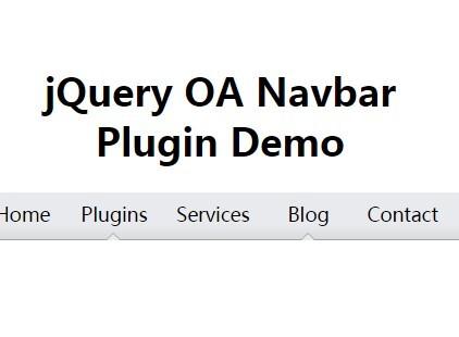 Create A Simple Nav Bar with jQuery and CSS - OA Navbar