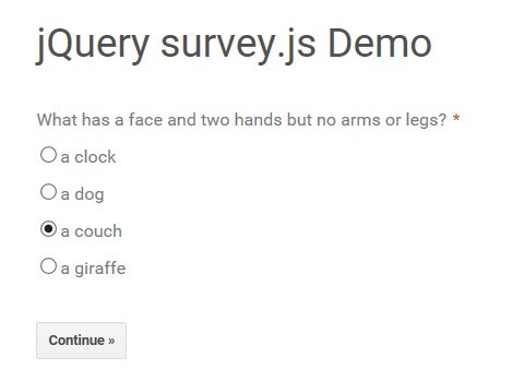 create a simple survey using jquery and json survey js free
