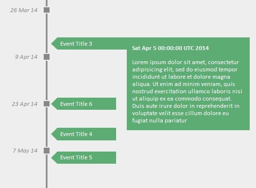 Create A Simple Vertical Timeline With JQuery And CSS Free - Timeline html template