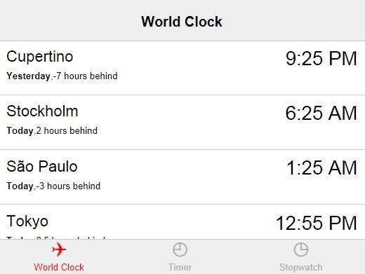 Create An iOS Like Clock App Using jQuery World Clock Plugin