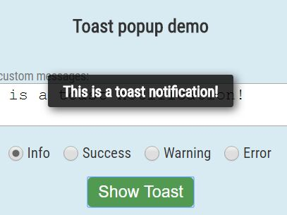 Create Android Or Modal Style Toast Messages With jQuery - ToastMe