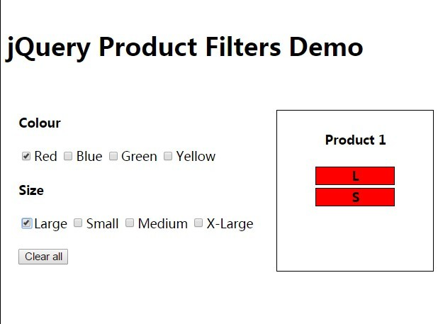 Create Basic Product Filters using jQuery