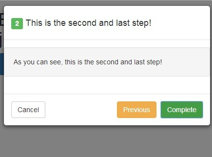 Create Step By Step Modal with jQuery and Bootstrap