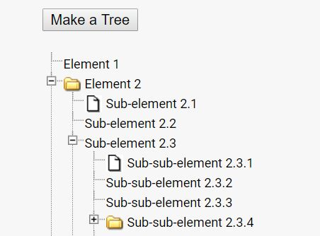 Create A Visual Folder Tree With jQuery - simpleTree