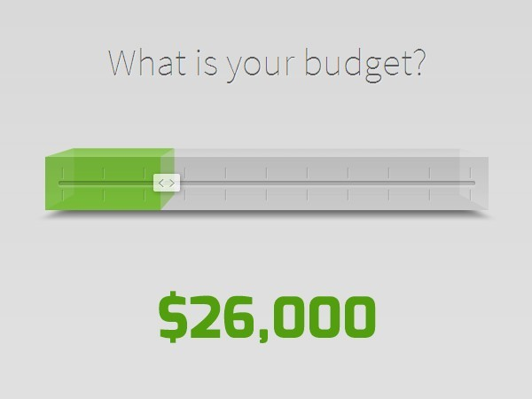 Creating a budget price slider with jquery and css3 for Div in html5