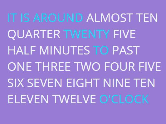 Creating A Minimal Text Clock Plugin With jQuery