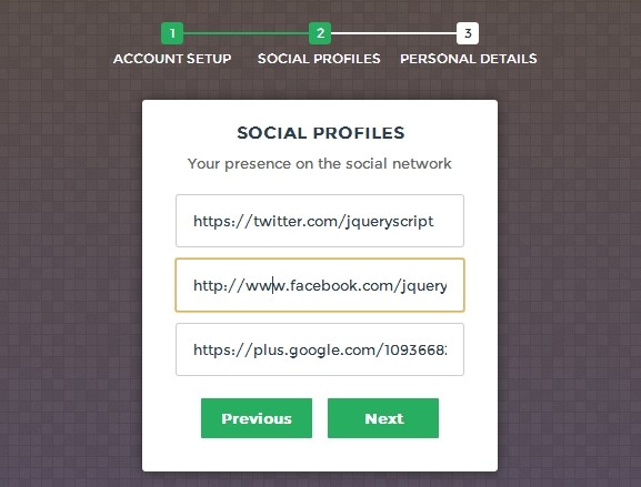 Creating a modern multi step form with jquery and css3 for Jquery registration form template