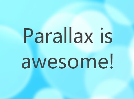 Creating A One Page Parallax Scrolling Website Using jQuery