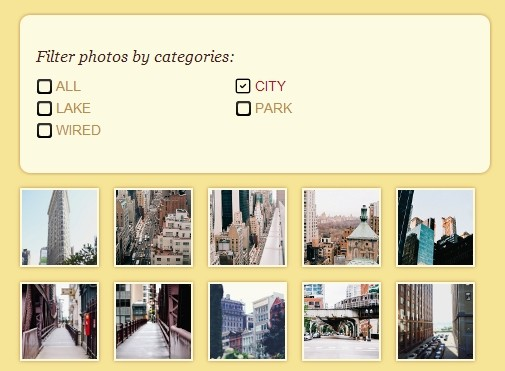 Creating A Responsive & Filterable Image Gallery with jQuery