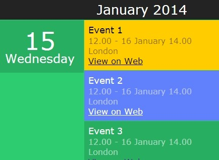 Creating A Responsive Flat Event Calendar with jQuery Kalendar Plugin