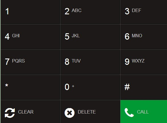 Creating A Responsive Phone Dial Pad with jQuery and CSS3 - dialpad