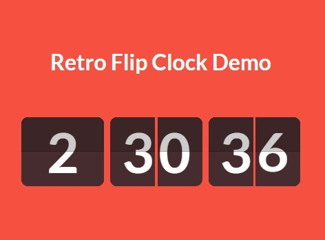 Creating A Retro Flip Clock with jQuery And CSS3