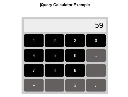 Creating A Simple Calculator with jQuery