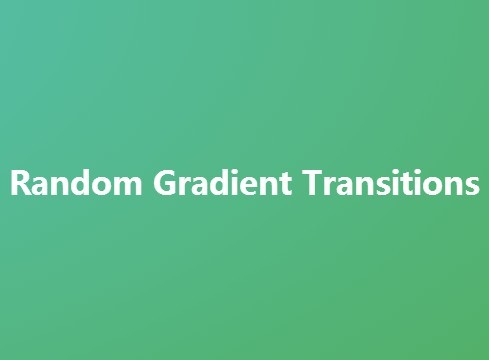 Creating Animated Background with Random Gradient