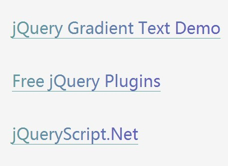 Creating Gradient and Rainbow Text Effects with jQuery