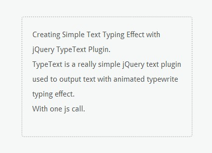 Creating Simple Text Typing Effect with jQuery TypeText Plugin
