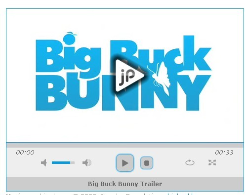 Cross Platform HTML5 Audio & Video Player For jQuery - jPlayer