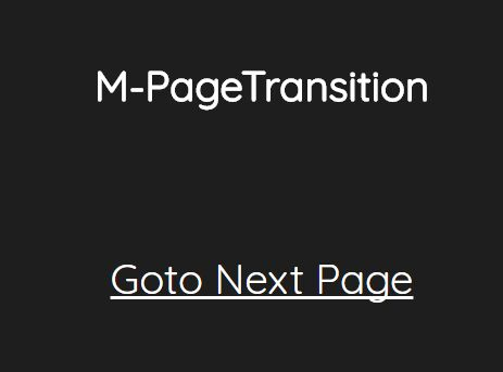 Cross-fading Page Transition Effects With jQuery - M-PageTransition