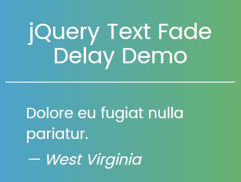 Cross-fading Text Rotator Plugin With jQuery - Text Fade Delay