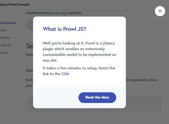 Customizable Cross-platform Modal Plugin For jQuery - Prowl