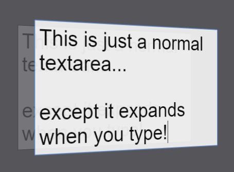 cross platform textarea auto grow plugin for jquery expandingtextareas