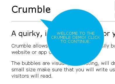Crumble - Web Site Feature Tour Plugin