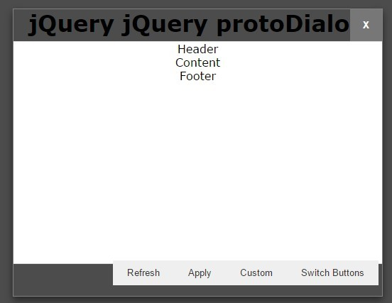 Custom Fullscreen Dialog Popup Plugin For jQuery - protoDialog