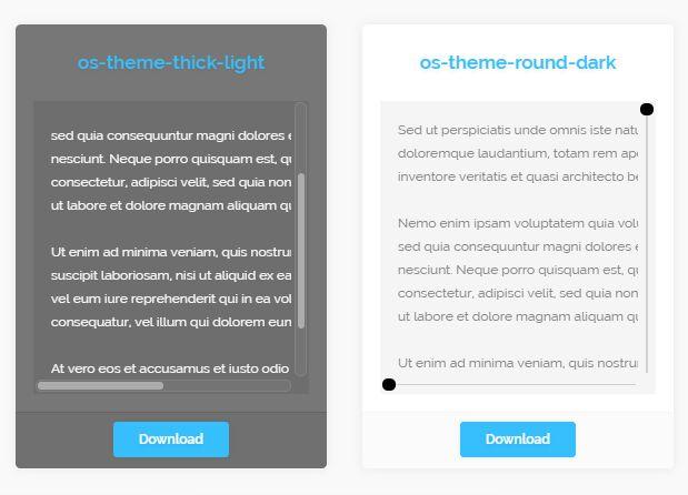 Highly Customizable Custom Overlay Scrollbar Plugin With