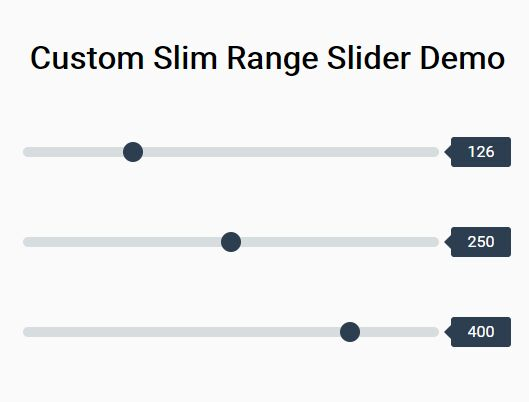 Custom Slim Range Slider With CSS And jQuery