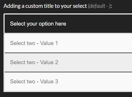 Creating Custom Select Options With jQuery - custom-select