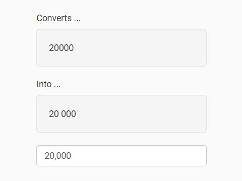 Custom Thousands Separator With jQuery - number-divider